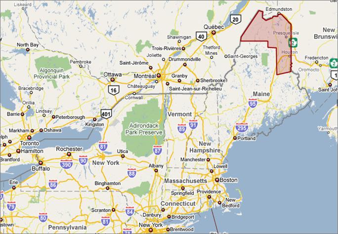 Aroostook County Map Fasterskier Com