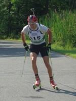Burke, Le Guellec Trade Shots, Wins at North American Rollerski Biathlon Championships