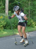 Continuing a Summer Tradition, Lanny Barnes Picks Up Two Rollerski Biathlon Titles in Jericho