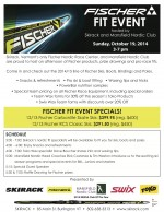 Fischer Fit Event on Sunday, Oct. 19