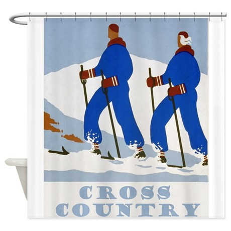 1 Cross Country Skiing Shower Curtain 65
