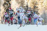 Diggins, Bjornsen Top 5 in Close-Quarters Oberstdorf Skiathlon