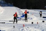 One of the para-nordic teams in action on Friday (Photo: Elisabeth Fink)