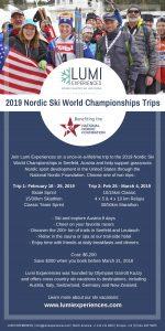 Lumi Experiences 2019 Nordic Ski World Championships Trips