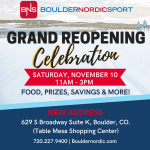 Boulder Nordic Sport Announces New Boulder Location and Grand Reopening