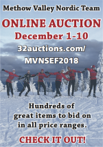 Methow Valley Nordic Team Online Auction December 1-10