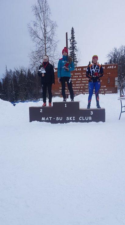 U16 girls Katey Houser, Marit Flora, and Victoria Bassette. (photo: courtesy CCAK)