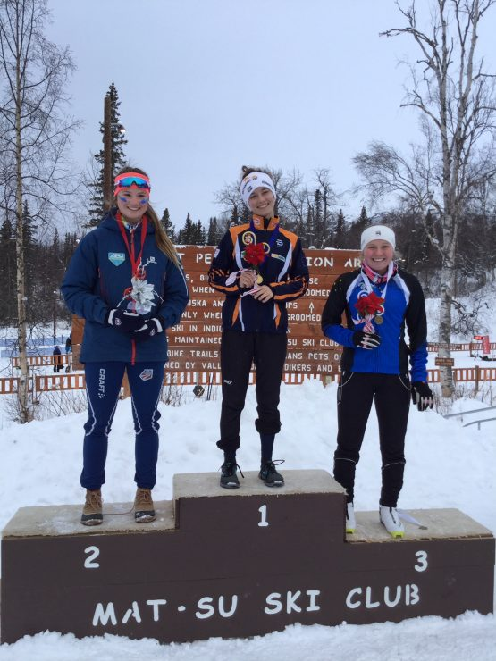 U18 girls Ivy Eski, Kendall Kramer, and Annika Hannestad. (photo: Gavin Kentch)