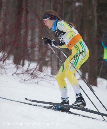 Zoë Williams in second place in Sunday's pursuit. (Photo: Bob Smithson)