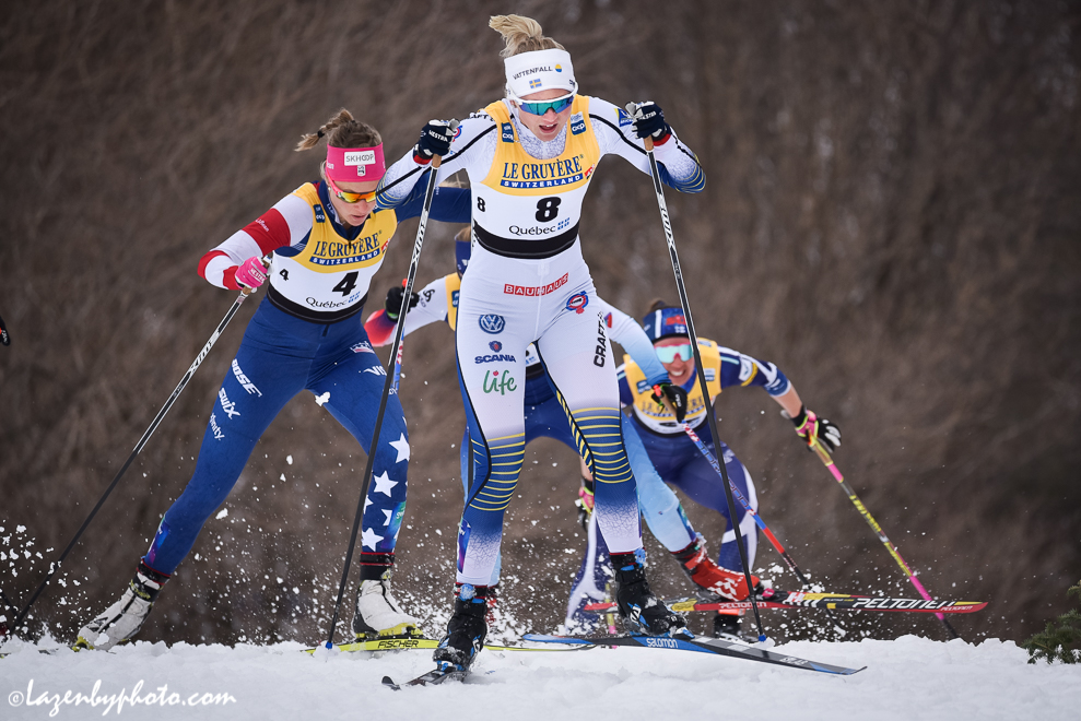 Maja Dahlqvist leads Sadie Bjornsen in the fourth semifinal. (Photo: John Lazenby)