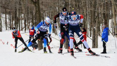 Håken Skaanes leads Antoine Cyr in the first quarterfinal. (Photo: James MacLean)