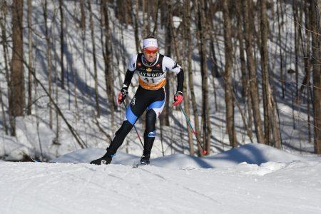 Sadie White in the team sprint. (Photo: Doug Stephen)