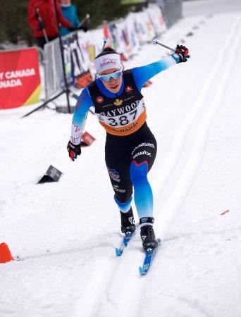 Nishikawa winning the individual start and another national title. (Photo: 2019 Canadian Ski Championships)