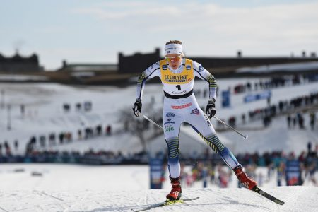 Stina Nilsson started first in the pursuit after winning both Friday and Saturday. (Photo: Doug Stephen)