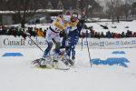 Québec City sprint crash, 5 of 7. Frida Karlsson escapes. (Photo: Doug Stephen)