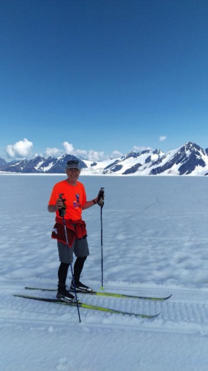John Wood at APU Masters Eagle Glacier Camp, Alaska, in July 2018. (courtesy photo)