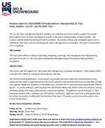 U.S. Ski & Snowboard Call for Coaches (Press Release)
