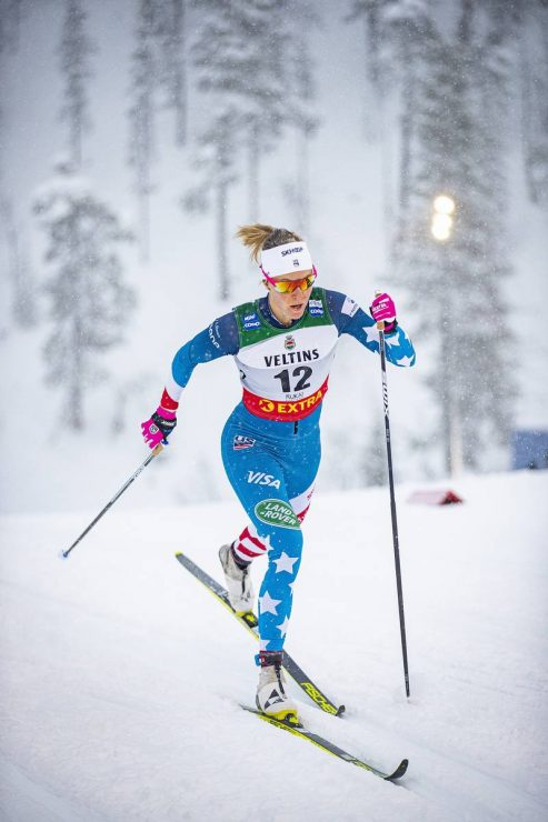 29.11.2019, Ruka, Finland (FIN):<br /> Sadie Maubet Bjornsen (USA) - FIS world cup cross-country, individual sprint, Ruka (FIN). www.nordicfocus.com. © Modica/NordicFocus. Every downloaded picture is fee-liable.