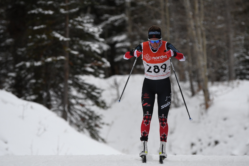 Katherine Stewart-Jones got second again in the 5km classic. (Photo: Doug Stephen)