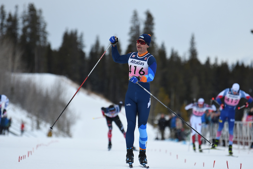 Full-time student Jess Cockney was happy to win again in Canmore. (Photo: Doug Stephen)