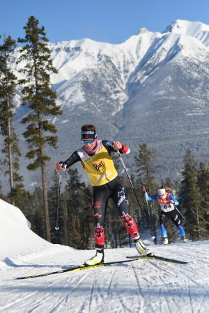 Katherine Stewart-Jones tightening her hold on the NorAm leaders bib, with a third consecutive top Canadian result. (Photo: Doug Stephen)