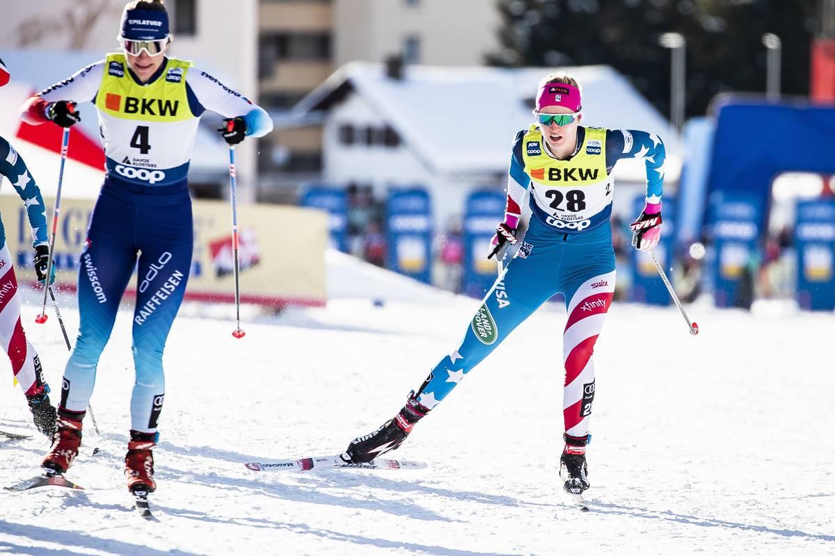 14.12.2019, Davos, Switzerland (SUI):<br /> Hailey Swirbul (USA) - FIS world cup cross-country, individual sprint, Davos (SUI). www.nordicfocus.com. © Modica/NordicFocus. Every downloaded picture is fee-liable.