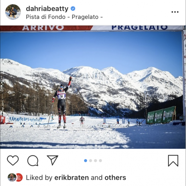 Dahria Beatty wins the OPA Cup ahead of Katherine Stewart-Jones. (Photo: Beatty's Instagram)