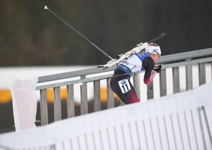 15.01.2020, Ruhpolding, Germany (GER): Tiril Eckhoff (NOR) - IBU world cup biathlon, sprint women, Ruhpolding (GER). www.nordicfocus.com. © Tumashov/NordicFocus. Every downloaded picture is fee-liable.
