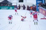 Bolshunov Goes Down; Klæbo on Form to Capture Tour Sprint Win