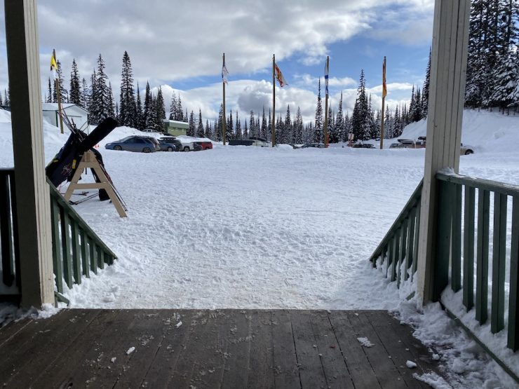 In December, skiers have to climb the steps into the Daylodge after the race. It gets easier by February, which could be important for masters after 50km of foolishness.