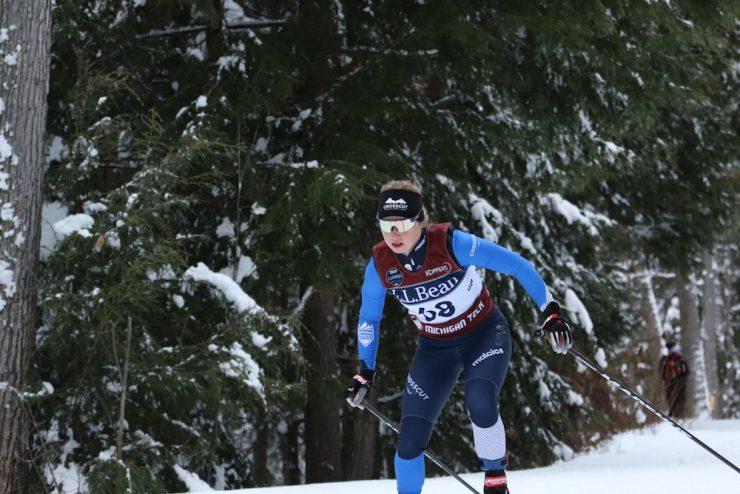 Hannah Cole racing at 2020 U.S. Nationals in Houghton, Michigan. (photo: Karen Brown)