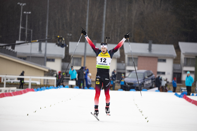 Sturla Holm Lægreid (NOR) at the IBU Open European championships in Minsk (BLR) where he impressed the national team enough to name him to the World Cup team for the sprint race in Nove Mesto (CZE) this weekend. Photo: Nordic Focus