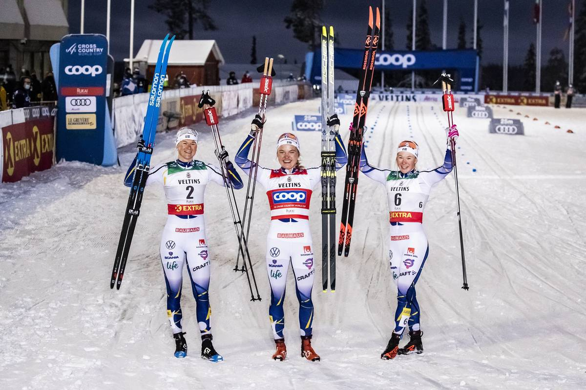 Sweden Locks Up the Ruka Sprint Podium: Brennan Leads the U.S. in 17th