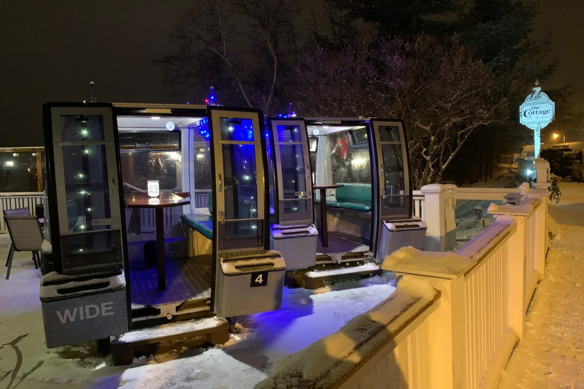 Dine in a Whiteface Mountain Gondola Cabin at The Cottage Café