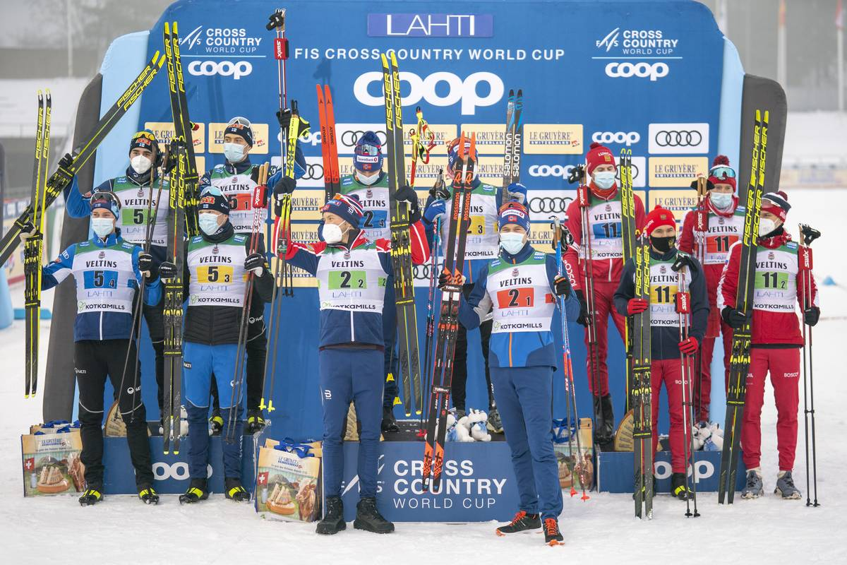 Norway win Men's 4 x 7.5 k Relay in Lahti; Belligerent Bolshunov Bullies