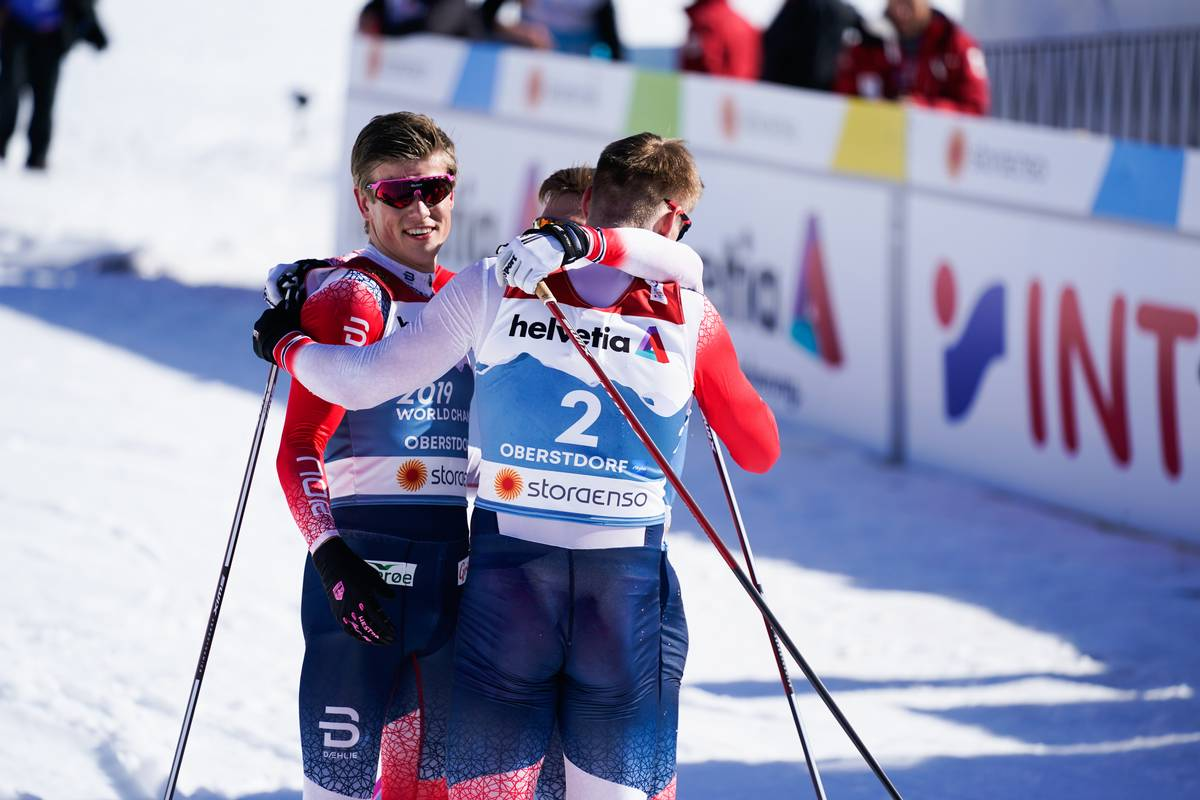 Norwegian Triple Championship Podium with Klæbo Crowned the Winner; Ogden 17th for the US