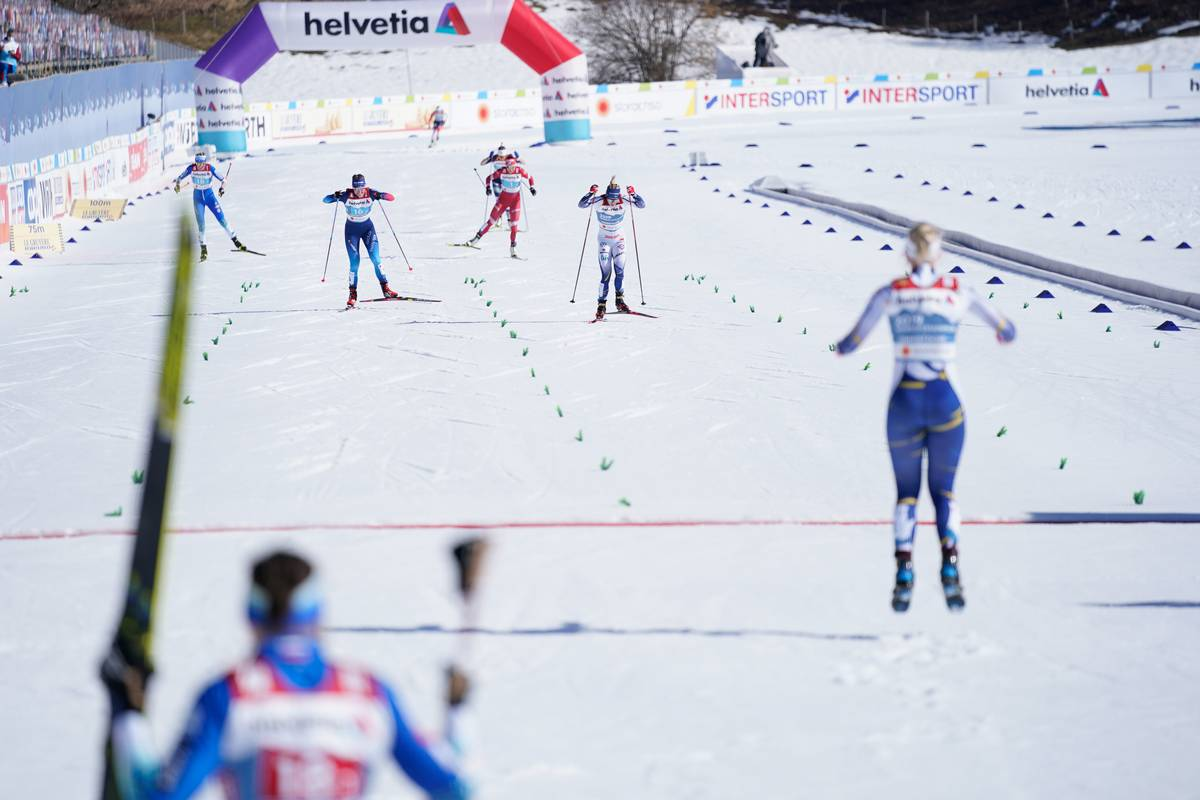 Sweden's Sundling Edges Out Switzerland for Team Sprint Gold; USA 5th