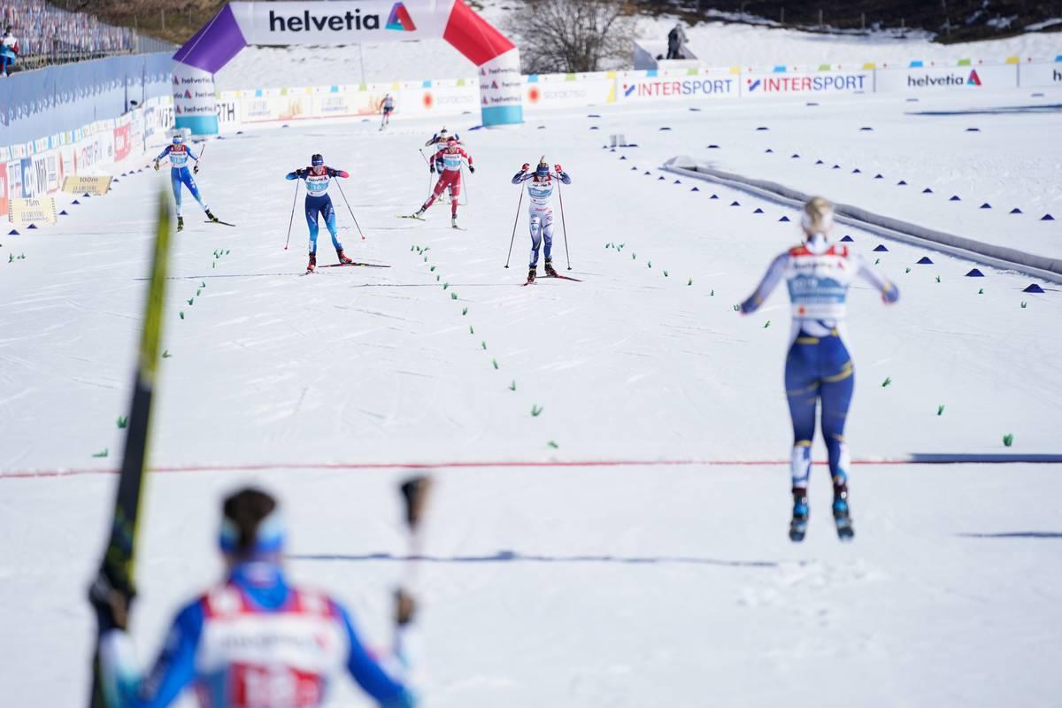 Sweden's Sundling Edges Out Switzerland for Team Sprint Gold; USA 5th