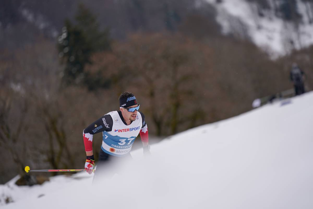 07.03.2021, Oberstdorf, Germany (GER):<br /> Antoine Cyr (CAN) - FIS nordic world ski championships cross-country, 50km men, Oberstdorf (GER). www.nordicfocus.com. © Modica/NordicFocus. Every downloaded picture is fee-liable.