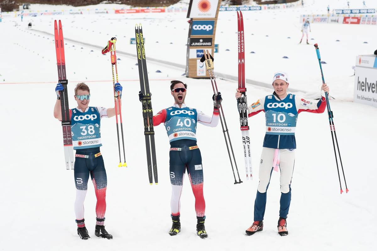Another Norwegian Sweep in the 15-Kilometer Skate: Holund, Krüger, and Amundsen
