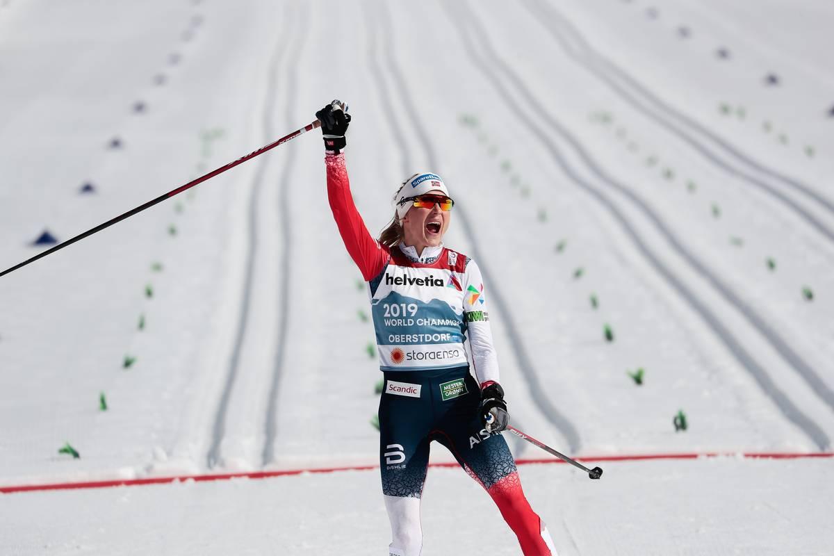 Johaug Runs Away With Gold in the 30-kilometer Classic; Maubet Bjornsen 15th in Final Professional Race