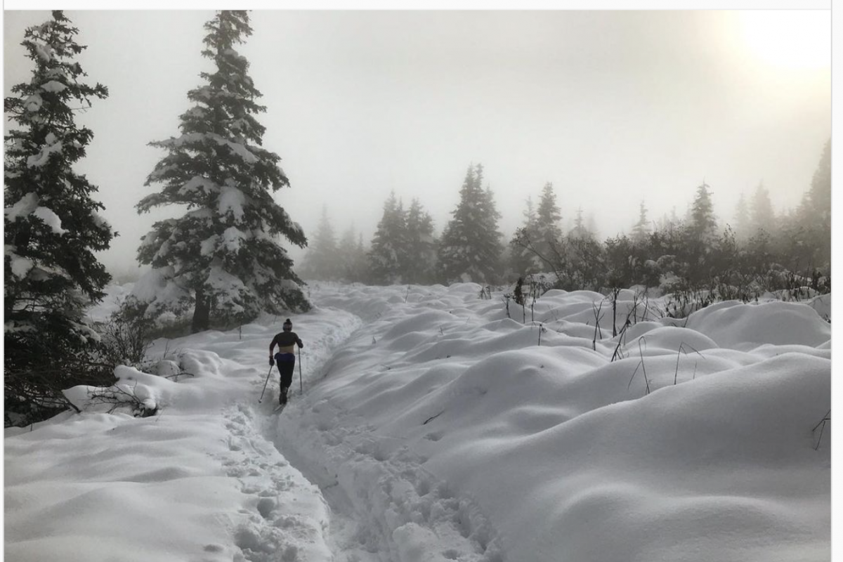 Photo Essay: Anchorage Skiers Stoked Over Sizeable September Snowfall