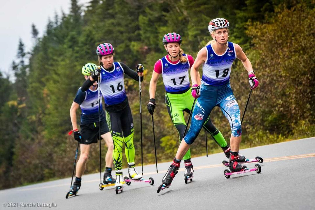 Rollerskiers in the  Mist: Patterson, Brown Win Foggy Climb to the Castle